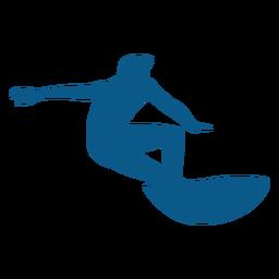 Silueta de postura de surf