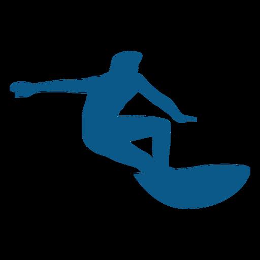 Surfen Haltung Silhouette Transparent PNG