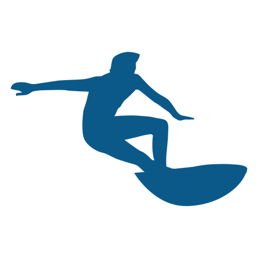Surfing stance silhouette Transparent PNG
