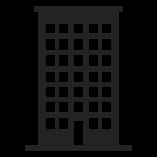 Ícone casa de edifício alto Transparent PNG
