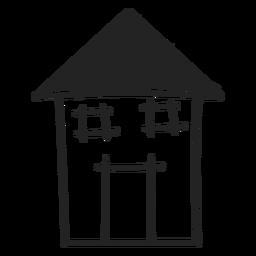 Icono de casa dibujado mano alto
