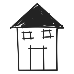 Tall hand drawn house icon