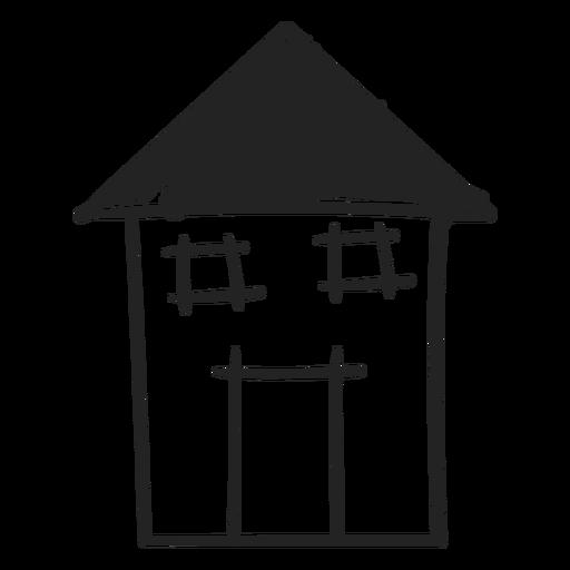 Icono de casa dibujado mano alto Transparent PNG