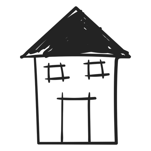 Tall hand drawn house icon Transparent PNG