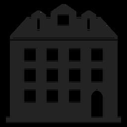 Silueta alta casa negro
