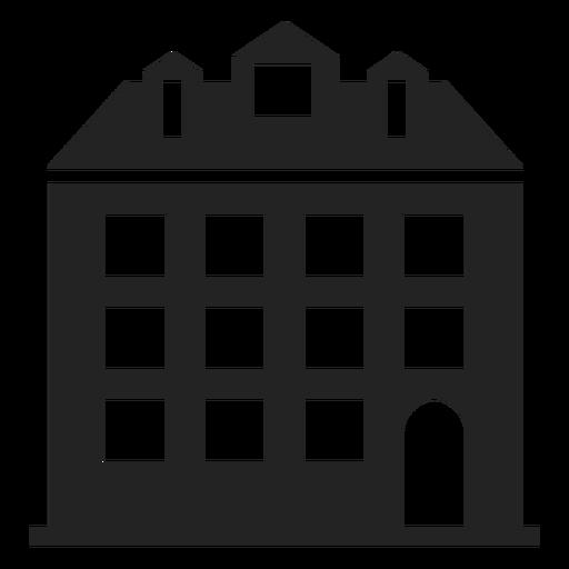 Silueta alta casa negro Transparent PNG