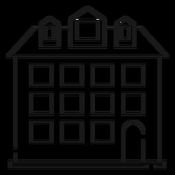 Icono de línea delgada de casa alta
