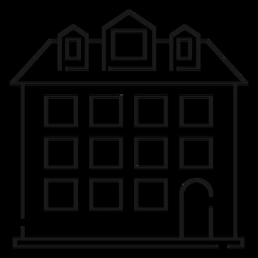 Icono de línea delgada de casa alta Transparent PNG