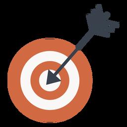 Objetivo y el icono de flecha de destino