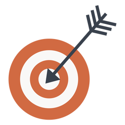 Target and arrow icon target