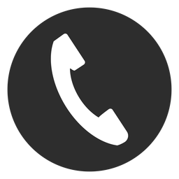 Telephone black and white icon