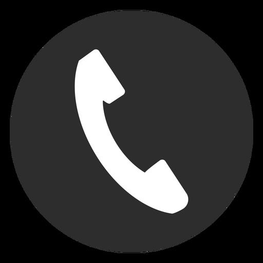 Icono de teléfono blanco y negro Transparent PNG