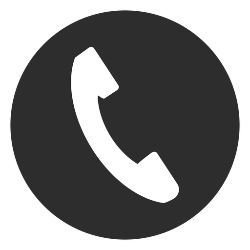 Telephone black and white icon Transparent PNG