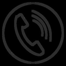 Ícone de chamada telefônica