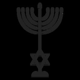 Icono de menorah del templo