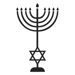 Temple menorah icon