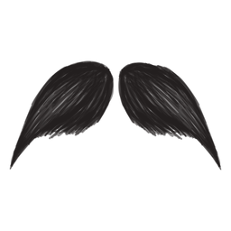 The bandito style moustache brush stroke icon