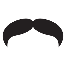 Das Cowboy-Stil-Schnurrbart-Symbol