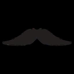 Das englische Schnurrbart-Pinselstrich-Symbol