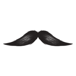 O ícone de traçado de pincel de bigode inglês