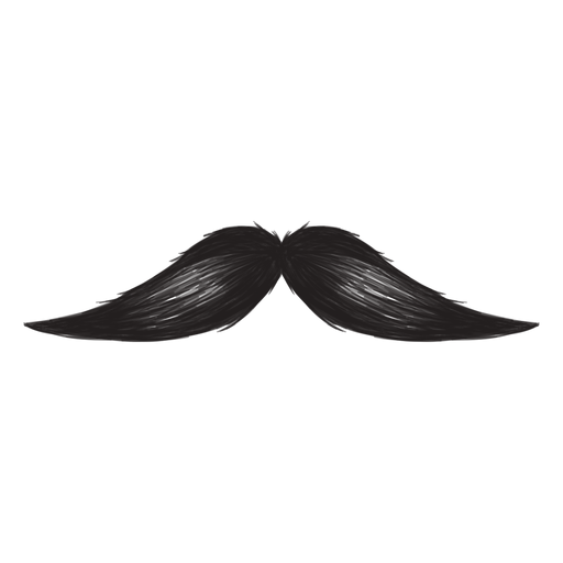 The english moustache brush stroke icon Transparent PNG