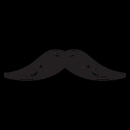 Die gezeichnete Ikone des englischen Schnurrbartes Hand