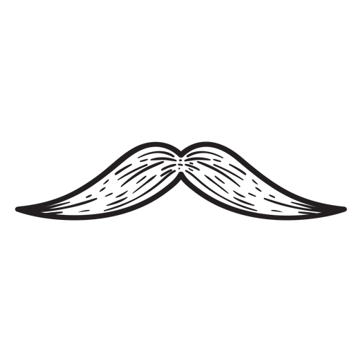 The english moustache hand drawn icon Transparent PNG