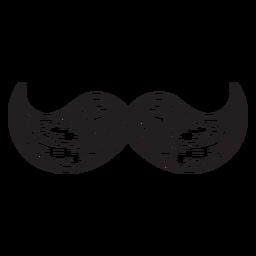 El bigote húngaro dibujado a mano icono