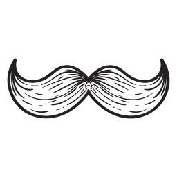 O ícone de mão desenhada bigode húngaro