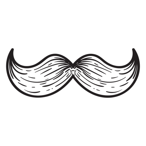 The hungarian moustache hand drawn icon Transparent PNG