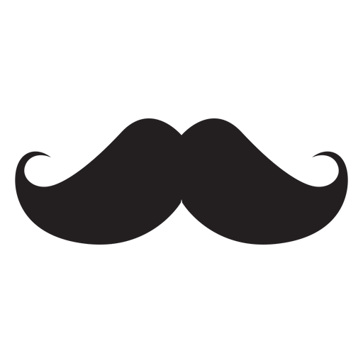 The hungarian moustache silhouette Transparent PNG