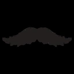 El icono de trazo de pincel de bigote magnum