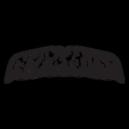 Das Pinsel-Stil-Schnurrbart-Symbol des Malers