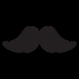 O ícone de bigode de morsa