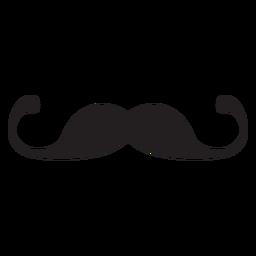 Icono de bigote de manillar delgado