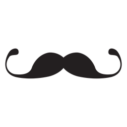 Thin handlebar moustache icon