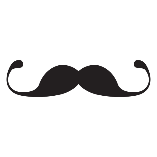 Ícone de bigode fino guiador Transparent PNG