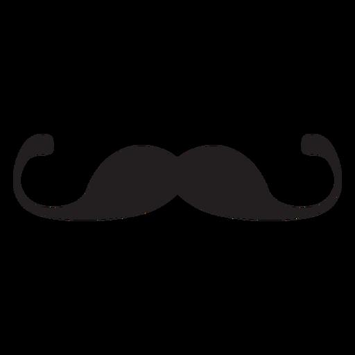 Thin handlebar moustache icon Transparent PNG