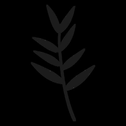 Hojas delgadas en la silueta del tallo Transparent PNG