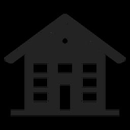 Casa de três andares ícone preto