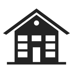 Three storey house black icon