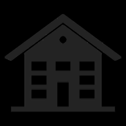 Casa de três andares ícone preto Transparent PNG