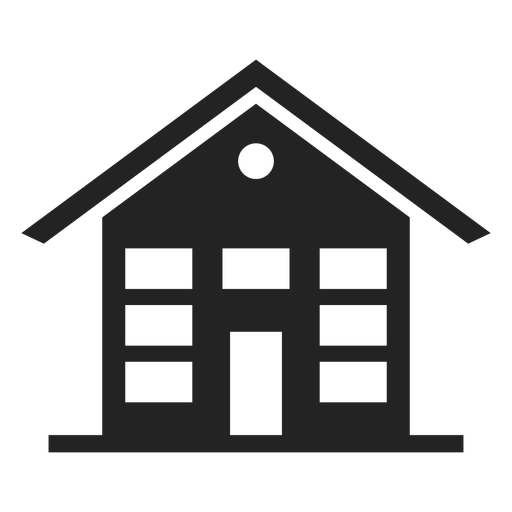 Three storey house black icon Transparent PNG