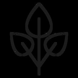 Tres hojas en un icono de rama.