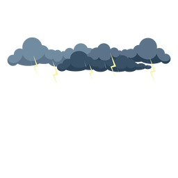 Thunder storm cloud vector