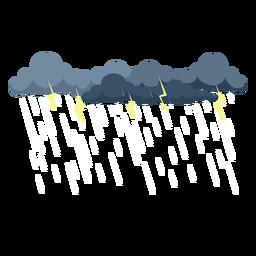 Vetor de nuvem de tempestade de trovão