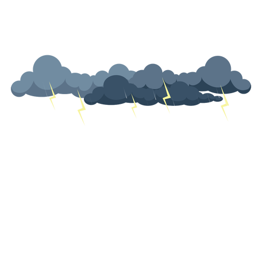 Thunder storm cloud vector - Transparent PNG & SVG vector