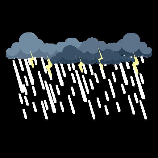 Thunder storm cloud vector