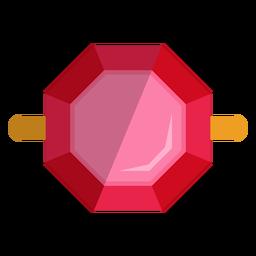 Vista superior del vector de anillo