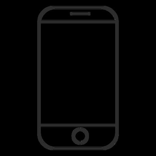 Icono de teléfono con pantalla táctil